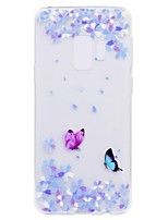 cheap -Case For Samsung Galaxy S9 Plus S9 Transparent Pattern Back Cover Butterfly Soft TPU for S9 S9 Plus S8 Plus S8 S7 edge S7 S6 edge S6 S5