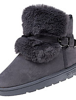 cheap -Women's Shoes PU Spring Fall Comfort Boots Flat for Outdoor Brown Gray Black