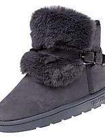 abordables -Mujer Zapatos PU Primavera Otoño Confort Botas Plano para Negro Gris Marrón