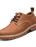 cheap -Men's Shoes PU Spring Fall Comfort Oxfords Loafers & Slip-Ons for Outdoor Brown Gray Black