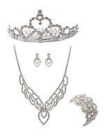 cheap -Women's Tiaras Bridal Jewelry Sets Rhinestone Fashion European Wedding Party Imitation Diamond Alloy Geometric Dream Catcher Body Jewelry