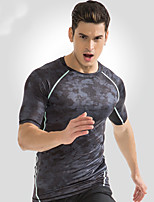 cheap -Men's Running T-Shirt Short Sleeves Fast Dry Breathability Top for Running/Jogging Exercise & Fitness Leisure Sports Outdoor Exercise