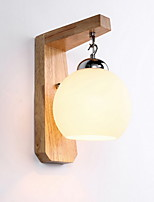cheap -Eye Protection Country Wall Lamps & Sconces For Bedroom Wood/Bamboo Wall Light 220V 3W