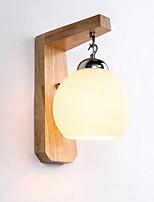economico -Pretezione per occhi Paese Lampade da parete Per Camera da letto Legno/bambù Luce a muro 220V 3W