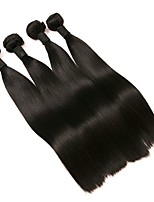 cheap -Brazilian Straight Human Hair Weaves 4pcs 0.4