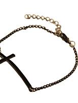 preiswerte -Damen Armband Modisch lieblich Aleación Kreuz Schmuck Alltag Ausgehen Modeschmuck Gold Schwarz Silber