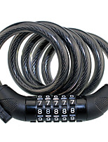 cheap -87610 mountain bike lock portable wirerope 5 digital code lock password security anti-theft bike lock with 1200*12mm cable
