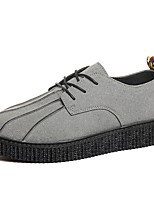 cheap -Men's Shoes Rubber Spring Fall Comfort Oxfords for Outdoor Black Gray Yellow Red