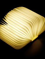cheap -USB chargable creative folding led book lamp portable mini maple night light