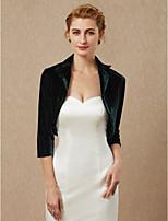 cheap -3/4 Length Sleeves Velvet Wedding Party / Evening Women's Wrap Shrugs