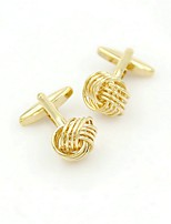cheap -Circle Golden Cufflinks Ordinary Fashion Birthday Gift Men's Costume Jewelry