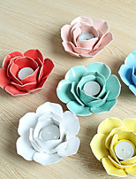 cheap -Flower Shape Ceramic Favor Holder with Pattern / Print Figurines & Statues - 1pc