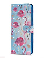 cheap -Case For Samsung Galaxy S9 S9 Plus Card Holder Wallet with Stand Flip Magnetic Full Body Cases Flamingo Hard PU Leather for S9 Plus S9 S8