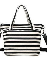 cheap -Women's Bags Canvas Tote Zipper for Casual All Seasons Blue Black