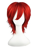 cheap -Synthetic Hair Wigs Straight Cosplay Wig Red