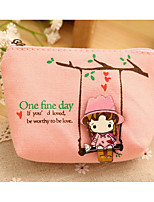 cheap -Women's Bags Canvas Clutch Pattern / Print for Casual Spring Fall Blue White Blushing Pink Coffee