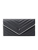 cheap -Women's Bags Cowhide Wallet Buttons for Formal Office & Career All Seasons Black/White