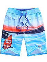 cheap -Boys' Daily Going out Floral Shorts, Cotton Summer Simple Casual Light Blue Royal Blue
