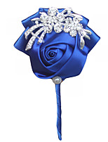 "cheap -Wedding Flowers Boutonnieres Wedding Event/Party Satin 3.94""(Approx.10cm)"