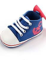cheap -Boys' Shoes Fabric Spring Fall Crib Shoes First Walkers Comfort Sneakers Gore for Casual Outdoor Black Royal Blue