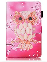 cheap -Case For Samsung Galaxy Tab E 8.0 Card Holder Wallet with Stand Pattern Auto Sleep/Wake Up Full Body Cases Owl Hard PU Leather for Tab E