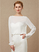 cheap -Long Sleeves Chiffon Wedding Party / Evening Women's Wrap With Button Coats / Jackets