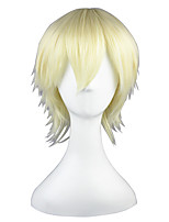 cheap -Synthetic Wig Straight Blonde Capless Cosplay Wig 13cm(Approx5inch) Synthetic Hair