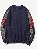 cheap -Men's Pullover - Color Block Round Neck