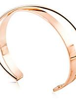 abordables -Femme Manchettes Bracelets Mode Adorable Alliage Forme Géométrique Bijoux Quotidien Sortie Bijoux de fantaisie Or