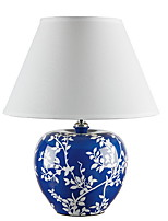 cheap -Artistic Decorative Table Lamp For Bedroom Ceramic Blue