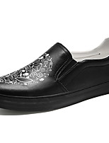 cheap -Men's Shoes Synthetic Microfiber PU Spring Fall Comfort Loafers & Slip-Ons Running Shoes for Athletic Casual White Black