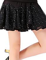 abordables -Danse latine Bas Femme Entraînement Polyester Paillette Taille basse Jupes