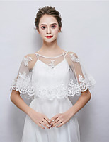 cheap -Sleeveless Tulle Wedding Party / Evening Women's Wrap With Sequin Lace Capelets