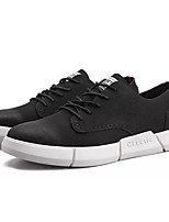 cheap -Men's Shoes Synthetic Microfiber PU Spring Fall Light Soles Sneakers for Casual Black Black/White