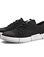 Недорогие -Муж. обувь Искусственное волокно Весна Осень Светодиодные подошвы Кеды для Повседневные Черный Черно-белый