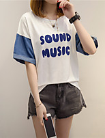 cheap -Women's Loose T-shirt - Letter