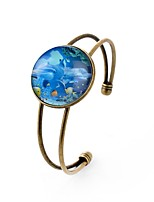 cheap -Men's Women's Cuff Bracelet , Metallic Sexy Glass Alloy Circle Jewelry Ceremony Carnival Costume Jewelry