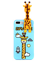 baratos -Capinha Para Apple iPhone 8 Plus iPhone 7 Plus Estampada Capa traseira Animal Macia TPU para iPhone 8 Plus iPhone 7 Plus