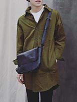 cheap -Men's Bags PU Shoulder Bag Zipper for Shopping Casual All Seasons Black