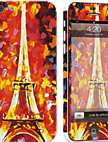 cheap -1 pc Skin Sticker for Scratch Proof Eiffel Tower Pattern PVC iPhone 5c