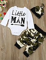 cheap -Baby Unisex Daily Sports Geometric Clothing Set,Cotton Spring Fall Cute Active Long Sleeve White