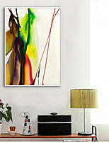 cheap -Abstract Illustration Wall Art,Plastic Material With Frame For Home Decoration Frame Art Living Room Indoors