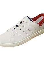 Недорогие -Муж. обувь Полиуретан Весна Осень Удобная обувь Кеды для Повседневные Белый Черный