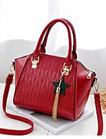 cheap -Women's Bags PU Shoulder Bag Zipper for Casual Winter Summer Black Blushing Pink Dark Gray Wine Royal Blue