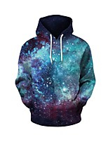 cheap -Men's Long Sleeves Hoodie - Geometric Hooded