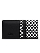 cheap -Women's Bags Cowhide Wallet Buttons for Shopping Office & Career All Seasons Black/White