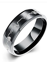 cheap -Men's Band Ring , Fashion Stainless Steel Circle Costume Jewelry Gift Daily