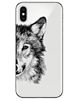 abordables -Funda Para Apple iPhone X iPhone 8 Ultrafina Transparente Diseños Funda Trasera Animal Suave TPU para iPhone X iPhone 8 Plus iPhone 8