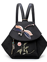 cheap -Women's Bags Oxford Cloth Backpack Embroidery for Casual Spring Fall Black