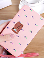 cheap -Women's Bags PU Wallet Zipper for Casual All Seasons Red Blushing Pink Beige Purple Sky Blue